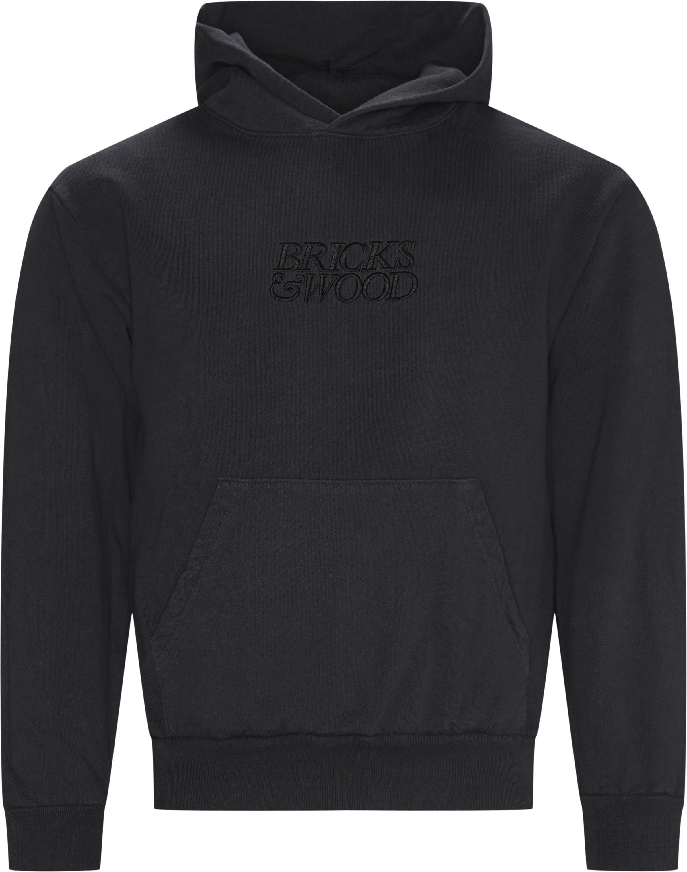 Logo Hoodie - Sweatshirts - Regular - Blå